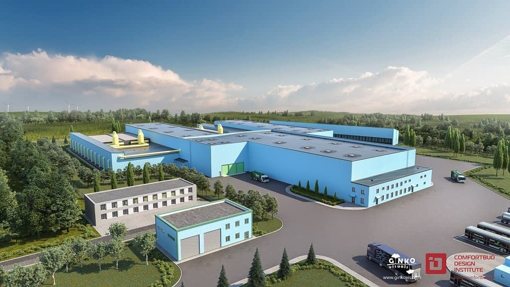 Waste treatment plant using the mechanical and biological processing and sorting of solid domestic waste, Lviv, Ukraine