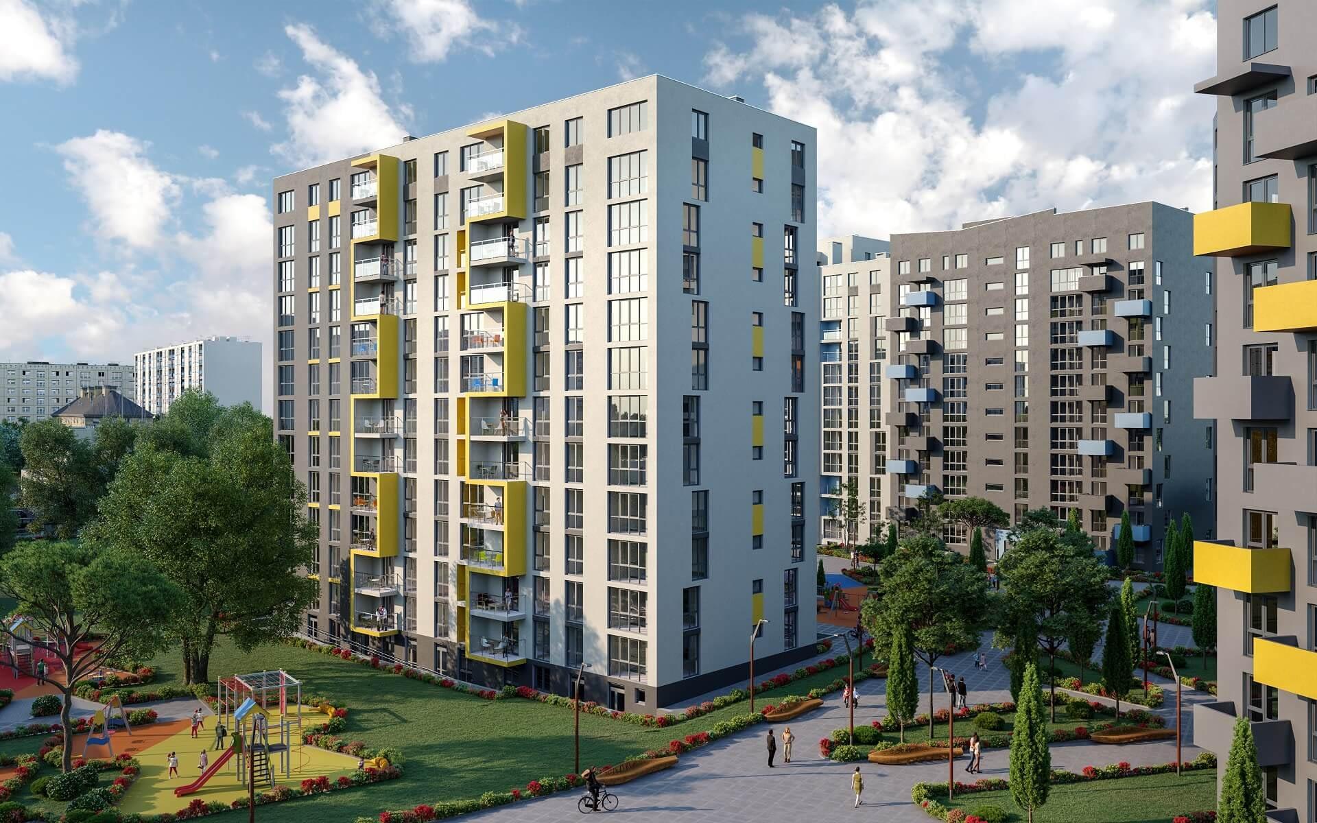 Residential complex «RIEL CITY» by RIEL estate developer, Lviv, Ukraine